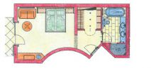 Schlafmütze double room Plan