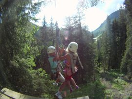 Aktivurlaub in Vorarlberg. Im Abenteuerpark Warth Schröcken erleben Sie Ihren Adrenalin-Kick.