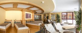 Panoramaruheraum mit Wasserbetten im Best Alpine Wellnesshotel Warther Hof