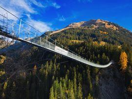 Hängebrücke in Holzgau am Arlberg