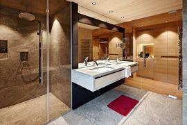 Badezimmer der neuen Naturkraftzimmer - Wellnesshotel Warther Hof