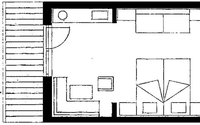 "Doppelzimmer ""FELDERN"" mit Balkon 2/2"