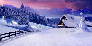 Romantico Natale di montagna
