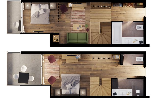 """""""69er"""" Baumhaus-Suite image 6 - Mia Alpina"""