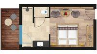 NEU: Doppelzimmer mit Balkon (im Nebenhaus) - Skizze
