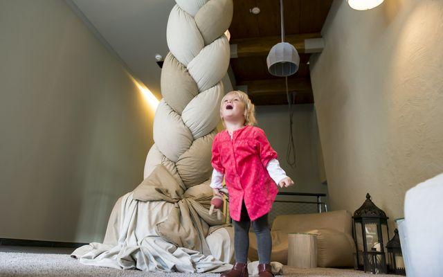 Rapunzel's Zopf in der Lobby