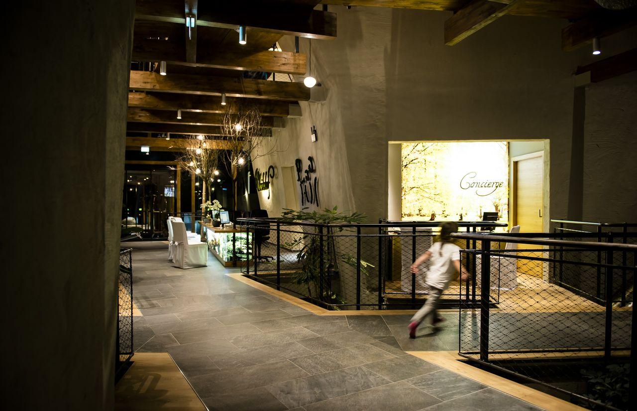 Die Lobby bei Nacht