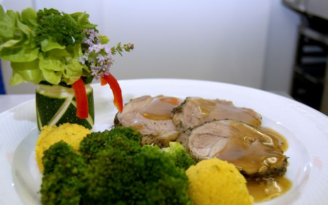 Biohotel Feistererhof: hauseigenes Fleisch, Vegetarisch & Vegan