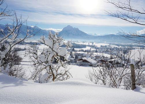 Biohotel Eggensberger: Hopfen am See im Winter - Biohotel Eggensberger, Füssen - Hopfen am See, Allgäu, Bayern, Deutschland