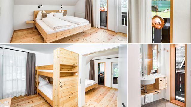 Familienzimmer mit Balkon und Seeblick