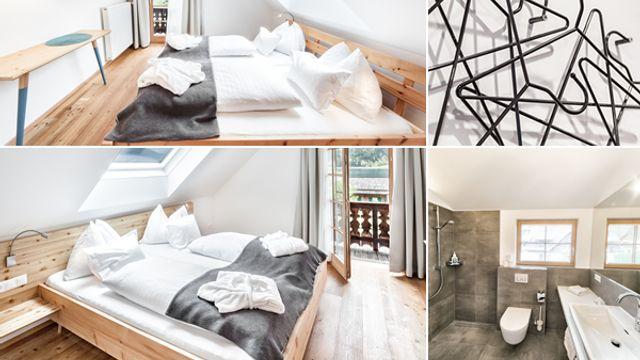 Doppelzimmer im Blockhaus  mit Balkon und Seeblick