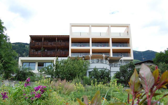 Biohotel Panorama: Blick vom Garten aus