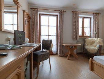 "Comfort Single Room ""Holunder"" with Balcony - moor&mehr Bio-Kurhotel"