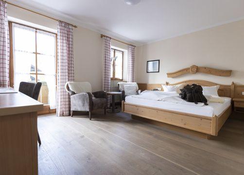 """Comfort Double Room """"Holunder"""" with Balcony (1/3) - moor&mehr Bio-Kurhotel"""