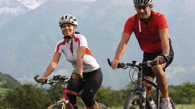 Through the Vinschgau valley by bike