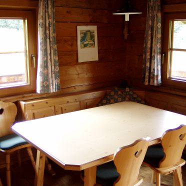 Living room, Moaralmhütte, Dölsach, Osttirol, Tyrol, Austria
