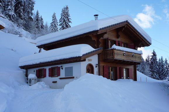 Winter, Chalet Amelie in La Tzoumaz, Wallis, Wallis, Schweiz
