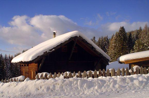 Rueckansicht, Reh's Wiesen Hütte in Lüsen/Brixen, Südtirol, Trentino-Südtirol, Italien