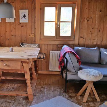 living area, Oberholzerhütte, Unken, Salzburg, Salzburg, Austria