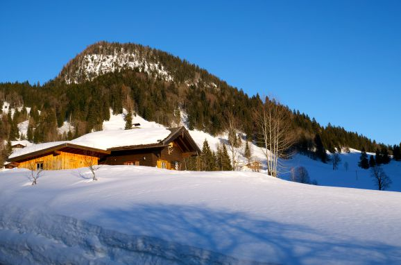 Winter, Oberholzerhütte in Unken, Salzburg, Salzburg, Austria