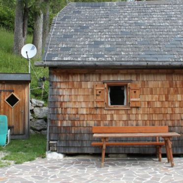 Kuschelhütte, Terrasse