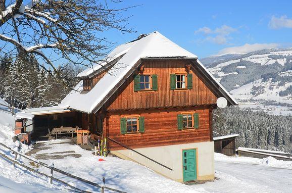 Winter, Kotmarhütte in Bad St. Leonhard, Kärnten, Kärnten, Österreich