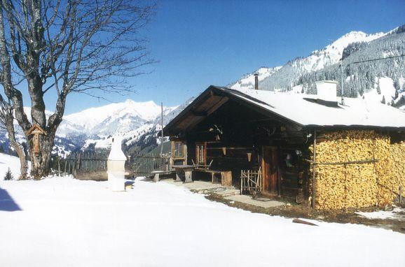 Frontansicht, Hungarhub Hütte in Großarl, Salzburg, Salzburg, Österreich