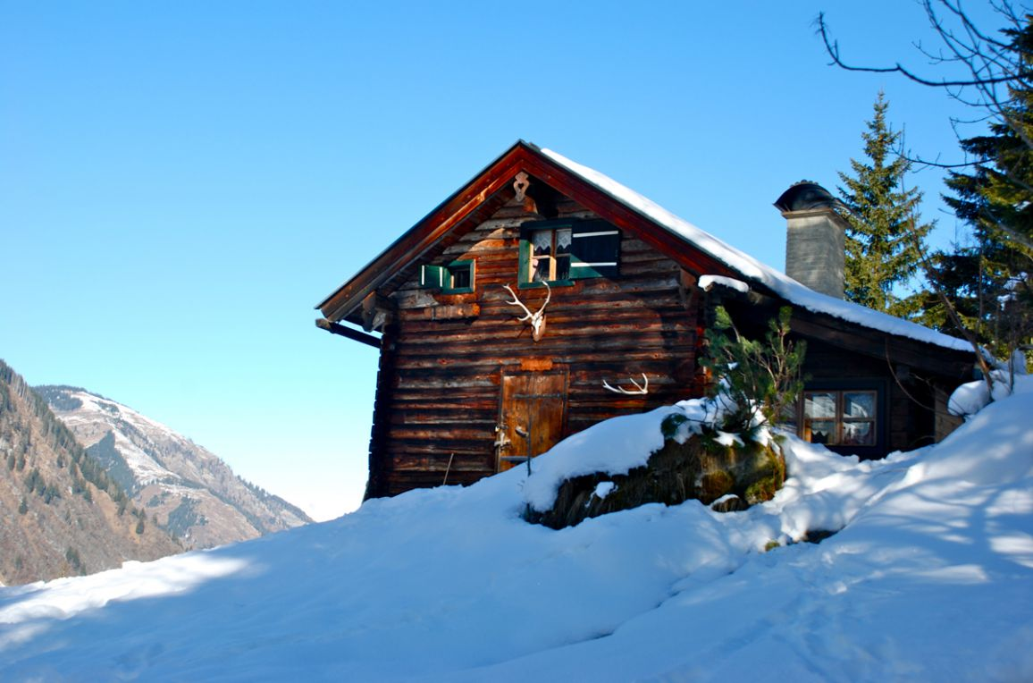 Karblickhütte, Winter