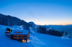 Biohotel Mattlihüs: Hotel im Winter - Biohotel Mattlihüs, Oberjoch, Allgäu, Bayern, Deutschland
