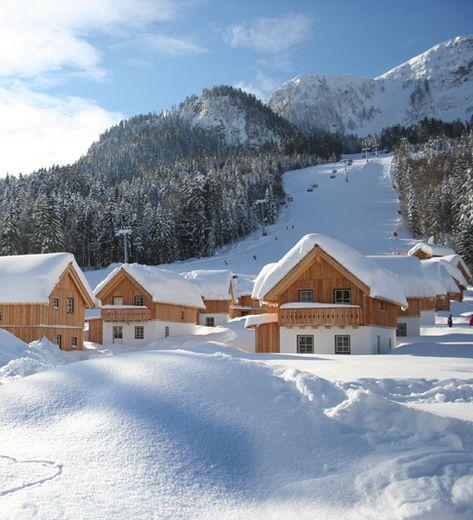 Neujahr's Skifahren