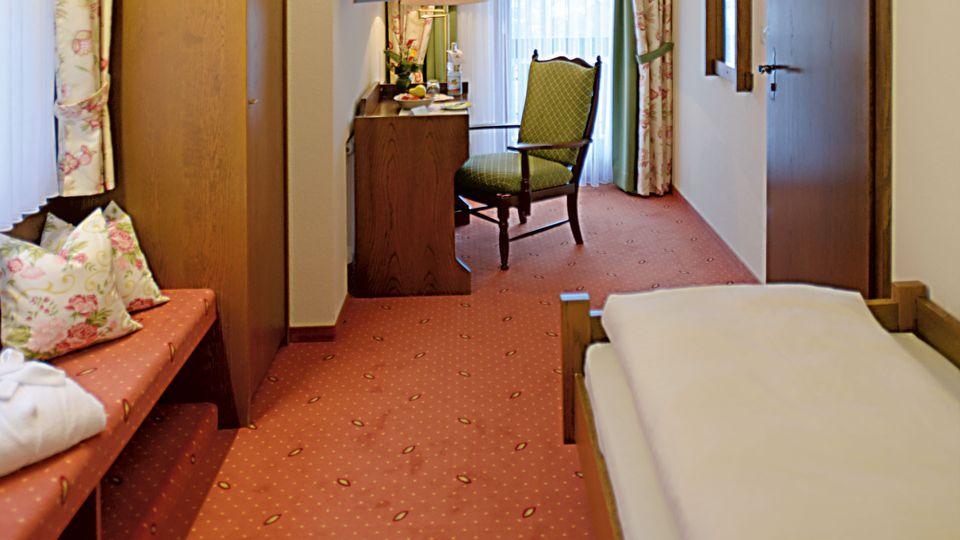 Chambre simple avec balcon orienté sud