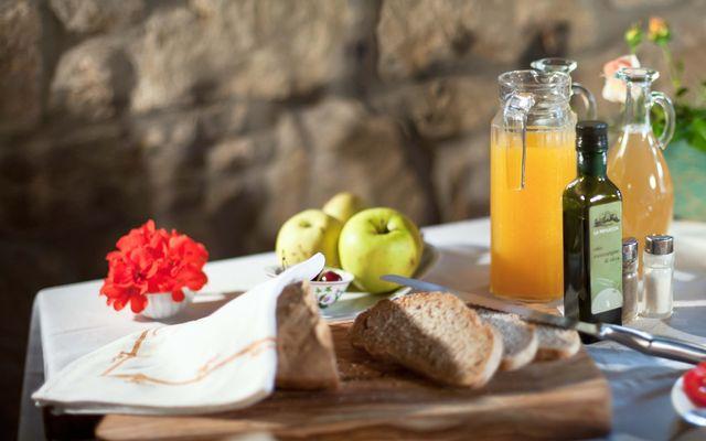 Biohotel La Pievuccia: Frühstück auf der Terrasse