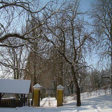"""Winter Aussicht, Gut Ottmanach """"Josefhof"""" in Pischeldorf, Kärnten, Kärnten, Österreich"""