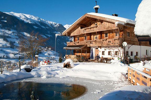 Winter, Bergchalet Klausner Edelweiß, Ramsau im Zillertal, Tirol, Tirol, Österreich