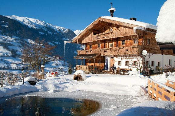 Winter, Bergchalet Klausner Almrausch in Ramsau im Zillertal, Tirol, Tyrol, Austria