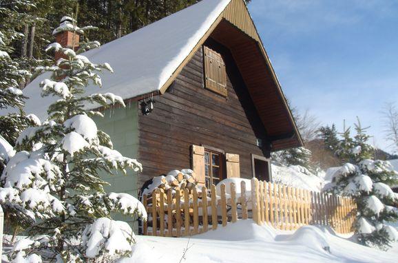 Winter, Guidos Panoramahütte in Vordernberg, Steiermark, Steiermark, Österreich