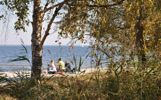Strand Barhöft im Herbst