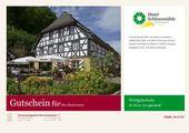 """Menü """"100% Schwarzwald"""" Gutschein"""