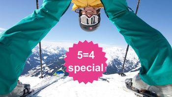 Ski Closing 5=4 speciaal | 1 dag en 1 nacht gratis