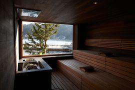Sauna im Wellnesshotel Hochschober auf der Turracher Höhe.
