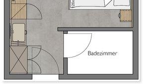 Chambre simple Heuberg - Bâtiment principal