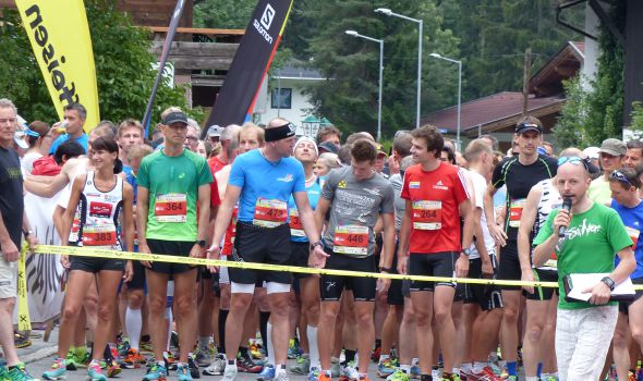 In the Quellenhof team for the Leutasch half marathon