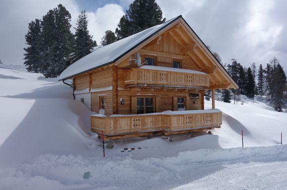 Winter, Holzknechthütte in Aich, Steiermark, Styria , Austria