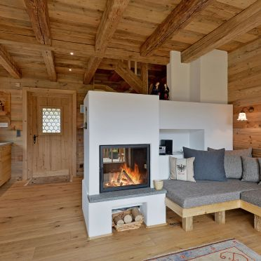 Living room, Bergchalet Klausner Die Hütte, Ramsau im Zillertal, Tirol, Tyrol, Austria