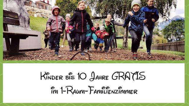 Frühsommer - Kinder bis 10 Jahre im Familienzimmer gratis