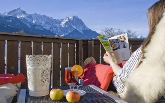 Biohotel Garmischer Hof: Ausblick auf die Zugspitze