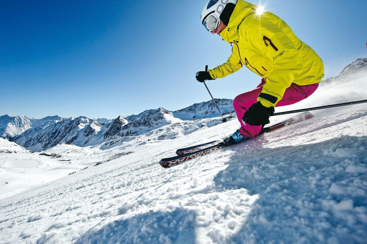 Gletscher Skigaudi im Herbst