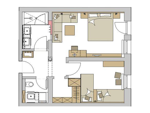 """Family-Suite Schreinerhof """"Top"""" Grundriss #1"""