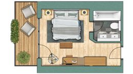 """chambres doubles Chambre double """"Eggishorn"""" - 7 7/7"""