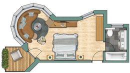 """Doppelzimmer Erkerzimmer """"Fletschhorn"""""""